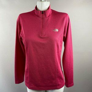The North Face Pink 1/4 Zip Pullover Large